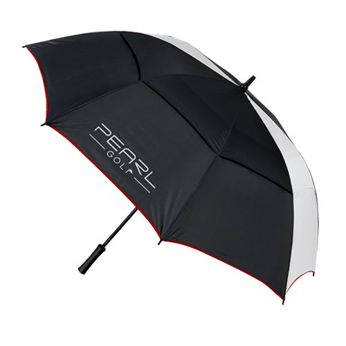 85f9be8b8f8bf UMBRELLA DOUBLE CANOPY BLACK WHITE RED, GBP 13,99 --> PearlGolf ...